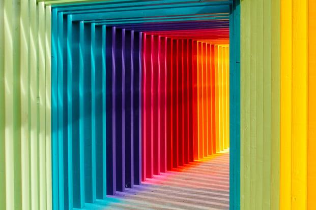 Colourful corner of the universe