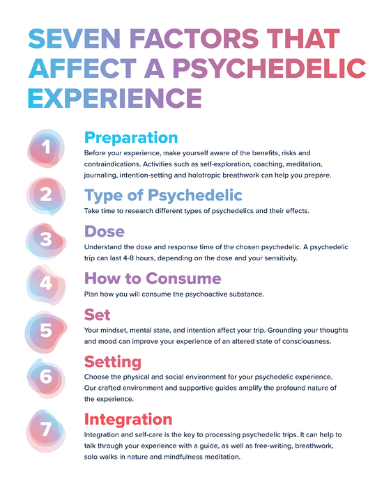 Seven factors that affect a psychedelic experience